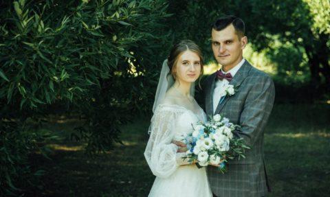 Церемония венчания Егора и Анастасии.